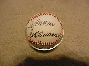 Ted Williams Inscribed and Autograph OAL Joe Cronin Baseball JSA Auction LOA