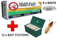 DIY TERMITE CONTROL KIT -  6 x Baits PLUS 12 x Bait Stations - Killer Treatment