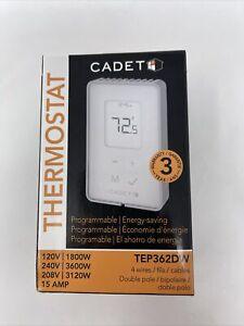 Cadet 3600-Watt Programmable Electronic Thermostat Double Pole TEP362DW