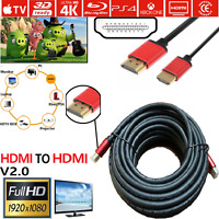 2m - 15m HDMI v2.0 Cable High Speed UltraHD 4K 2160p 3D Lead PS4 XBOX ONE SKY HD