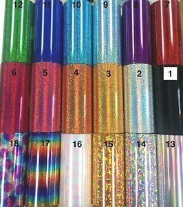 T-SHIRT IRON-ON/HEAT-PRESS GLITTER-HOLOGRAM VINYL PU HTV A+GRADE T-SHIRT-CUP-CAP