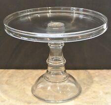 L.E. Smith Glass Pedestal Cake Plate Display Stand
