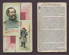 "1889 N114 Duke Histories of Generals ""General Wade Hampton"" VG **AA-9294**"