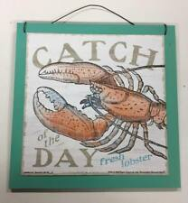 Catch of the Day Fresh Lobster wood sign beach house kitchen decorations seafood