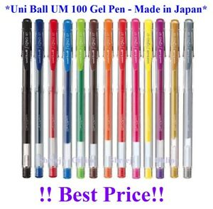UNI-BALL UNIBALL SIGNO UM-100 EYE GEL PEN 0.7mm & 0.8mm - many Colours Available