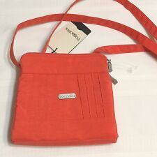NWT Baggallini ROUNDABOUT CROSSBODY Coral - Cute Small Shoulder Bag NOS