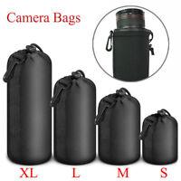 Universal Neoprene Camera Lens Pouch Soft Bag Case For Canon Nikon Sony DSLR New