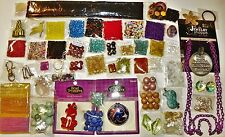 HUGE LOT OF BEADS GLASS BOTTLES JEWELRY MAKING SUPPLIES FINDINGS PENDANTS CHARMS