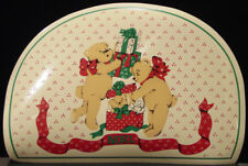 Town & Country Living Set Of 6 Teddy Bear Presents Vinyl Placemats New