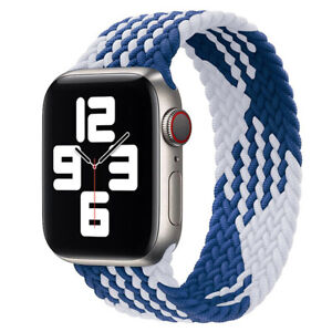 Nylon Braided Weave Elastic Solo Loop Band for Apple Watch SE/6/5/4/3/2/1