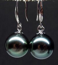 beautiful big 16 mm black southsea shell pearl earring best match