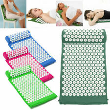 Acupressure Mat with Pillow Set Back Neck Pain Stress Muscle Relaxation US