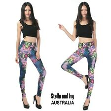 PSYCHEDELIC PRINT TIGHTS AU WOMENS NEW