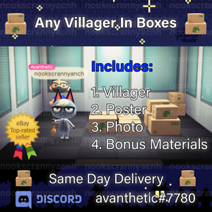 Any Villager in Boxes 📦 Moving Package 📦 Materials Photo Poster 📦 Request