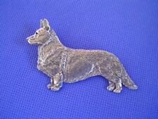 Cardigan Welsh Corgi Standing Pin #55A pewter dog jewelry by Cindy A. Conter