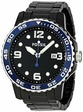 Fossil CE5010  Black Dial Date 47MM Case Men's Black Ceramic Watch New in Box