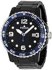 Fossil CE5010  Black Dial Date 47MM Case Men's Black Ceramic Watch New in Box