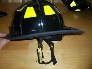 Cairns Black Fire Helmet Firefighter Helmet 1010