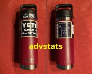 BRAND NEW COLOR 18-oz YETI Rambler bottle HARVEST RED w/chug cap *FREE SHIPPING*