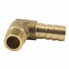 "8mm Hose x 3/8"" Male Thread 90 Degree Brass Elbow Barb Coupler Connector I4E3"