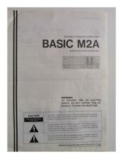 Kenwood M2A Amplifier Owners Instruction Manual