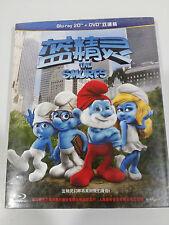 THE SMURFS LOS PITUFOS BLU-RAY + DVD CHINA ED ENGLISH REGION A-B-C 6 NEW &