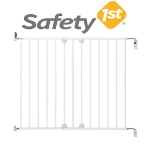 Safety 1st Baby Proofing Kids Wall Fixing Extending Fixed Metal White Stair Gate