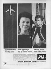 1962 Pakistan International Airlines PIA PRINT AD Jet  In-flight movie campaign