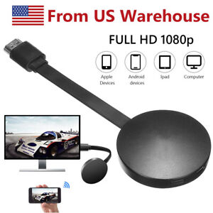 1080p Wireless Display Adapter HDMI WiFi Miracast Dongle Receiver Mirror Screen