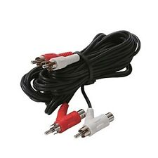 STEREN 6ft 2-RCA to 2-RCA Piggyback Audio Patch Cord 255-140