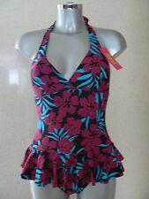 RESORT Floral Print Halterneck  Swimdress Swimming Costume Non Wired Size 8