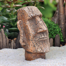 Miniature Easter Island Moai Statue Fairy Hobbit Gnome Garden Dollhouse GO 17308