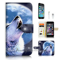 ( For iPhone 6 / 6S ) Wallet Case Cover P3589 Wolf