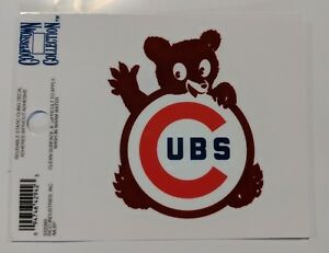 """Chicago Cubs 3 x 4"""" Small Static Cling Truck Car Auto Window Decal NEW Retro Red"""
