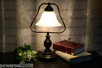 European Modern Simple Decoration Glass Bedroom Study Bedside White Table Lamp
