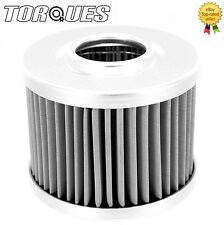 Torques Billet Aluminium Inspection Re-Usable Oil Filter 30 Micron Element