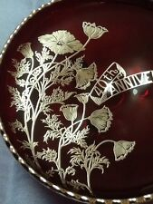Red Viking Glass Company Footed Plate-Dish: 'Flanders' 40th Anniversary. #167