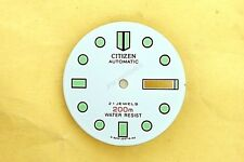 NEW CITIZEN WHITE DIAL FOR CITIZEN NY 2300 SERIES DIVERS WATCH NR#158