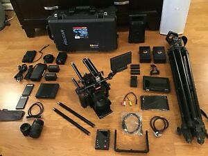 RED EPIC DRAGON X 6K CAMERA W/LOTS OF EXTRAS, LENS, REDBRICKS,TRIPOD,LCD,REDMOTE