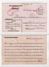 Allemagne - France - Kriegsgefangenenpost - Postkarte de prisonnier de guerre
