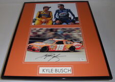 Kyle Busch Signed Framed 16x20 Photo Display D