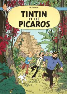 HERGE Les Aventures de Tintin: Tintin et Les Picaros 27.5 x 19.5 Poster