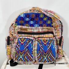 Hiptipico Wanderlust Backpack Fabric Embroidered Zip Pockets Adjustable Straps