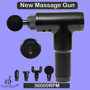 Massage Gun Deep Percussion Massager Muscle Vibration Relaxing Therapy Tissue UK