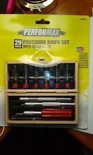 PERFORMAX 29 PIECE PRECISION KNIFE SET WITH WOOD CASE