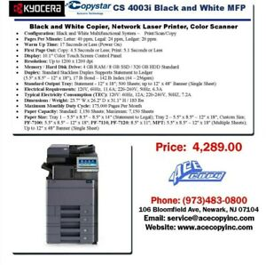 Copystar CS-4003i Laser MFP Print/Scan/Copy Copier