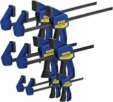 Irwin 6-Piece Quick-Grip Bar Clamps Set Assortment Sizes Hobby - Woodworking