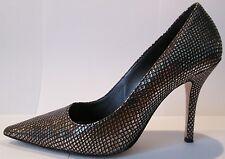 Högl Damen Leder Schuhe High Heel Pumps - gold Reptilienprägung Größe 38,5