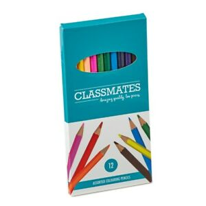 Classmates Assorted Colouring Pencils - Packs of 12, 144, 288, 504 Free Shipping