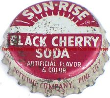 1940s Minnesota PINE CITY Coca Cola Bottling SUN-RISE BLACK CHERRY Cork Crown